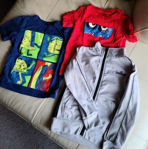 4T top bundle 2 t-shirts and a zip sweater